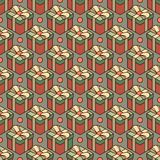 Pattern made from gift boxes vector illustration