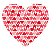 Pattern made of hearts. Valentines Day royalty free stock images