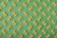Pattern made of pasta royalty free stock photography