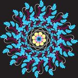 The pattern is made in the style of fractals in vector format. vector illustration
