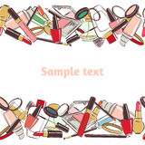 Pattern makeup and beauty cosmetics. Royalty Free Stock Images