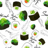 Pattern maki sushi japan Stock Photos