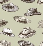 Pattern of the male and female hats Royalty Free Stock Images