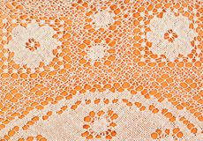 Pattern by Maltese bobbin lace close up. Vintage knitting craftsmanship - pattern by Maltese bobbin lace close up Stock Images