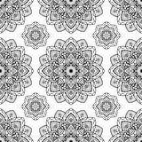 Pattern of mandalas. Vector seamless pattern of mandalas. Oriental ornament. Template for textiles, wallpaper, shawls, carpets, wrapping paper Royalty Free Stock Image