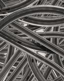 The pattern of the many roads with cars stock photos