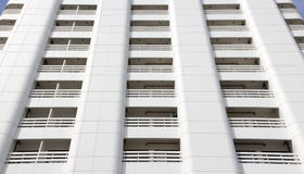 Pattern of many white balcony of a modern building Royalty Free Stock Photography