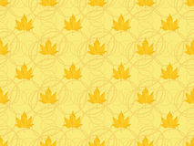 Pattern with maple leaves Stock Photography