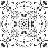 Pattern of maple leaves. Black pattern of maple leaves on a white background,  illustration stock illustration
