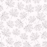 Pattern maple leaves variant 2 Royalty Free Stock Image