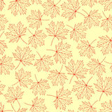 Pattern maple leaves variant 4 Royalty Free Stock Photos