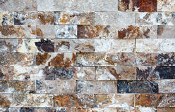 Pattern of marble stone decorative brick wall texture and background Royalty Free Stock Images