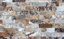 Pattern of marble stone decorative brick wall texture and background Royalty Free Stock Photo
