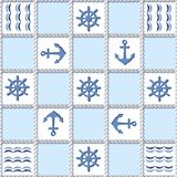 Pattern with marine elements Stock Photography