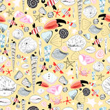 Pattern of marine life Stock Images