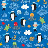 Pattern on the marine theme. Seamless pattern on the marine theme Stock Photography