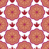 Pattern maroon flowers Stock Images