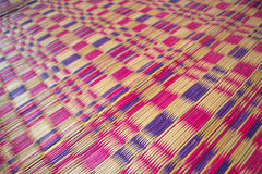 Pattern of the mat in local traditional Thailand Royalty Free Stock Photos