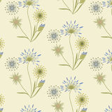 Pattern medical grasses gentle beige blue on a light background art creative vector Stock Images