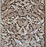 Pattern of medieval arabian art at Alhambra Royalty Free Stock Photography