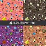 PATTERN 13 Memphis seamless pattern 80s-90s styles stock illustration