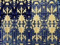 Pattern on a metal gate. Elaborate pattern and details on a metal gate Royalty Free Stock Photos