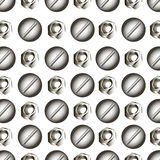 Pattern with metal Royalty Free Stock Photos