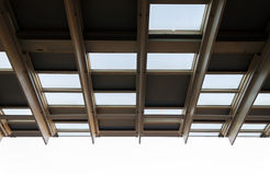 Pattern of metal roof structure Royalty Free Stock Photography