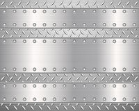 Diamond metal background and plates  Royalty Free Stock Photos