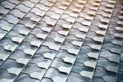 Pattern of metal which punch Royalty Free Stock Images