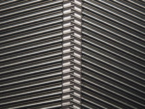 Pattern 2. Metallic cylinders placed in 2 rows Royalty Free Stock Photography