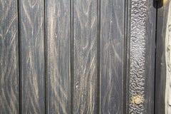 Pattern on metallic gate Royalty Free Stock Images