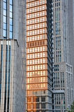 Pattern of metropolis buildings. Metropolis modern buildings external, in featured color and texture, shown as composition by architecture, and modern city or Royalty Free Stock Images