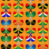 Pattern of Mexican maracas Stock Photos