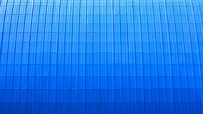 Pattern of modern blue metal roof. Pattern of modern blue corrugated metal roof Royalty Free Stock Image