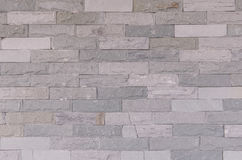 Pattern of Modern Slate stone Brick Wall Surfaced for background Royalty Free Stock Photo
