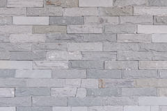 Pattern of Modern Slate stone Brick Wall Surfaced for background Royalty Free Stock Photos