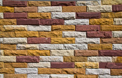 Pattern of Modern stone Brick Wall. Use for background Stock Image