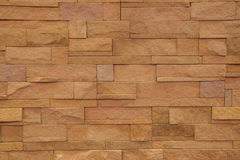 Pattern of modern style design decorative real stone wall Royalty Free Stock Photo