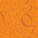 Pattern of modern vector hand written English alphabet (numerals. Pattern of modern vector hand written English alphabet Royalty Free Illustration