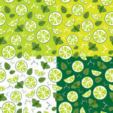Pattern with mojito ingredients Stock Image