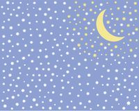 Background for kids starry night a month the stars of the sky royalty free illustration