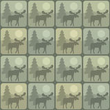 Pattern moose Royalty Free Stock Images