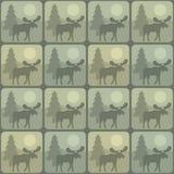 Pattern moose royalty free illustration