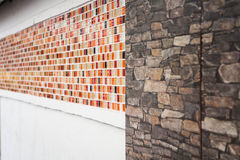 Pattern of mosaic and granite wall Royalty Free Stock Photo