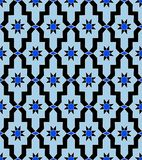 Pattern arabic mosaic blue vintage star royalty free illustration