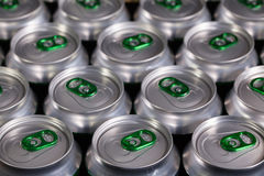Pattern from much of drinking cans Stock Images