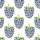 Pattern with mulberries Royalty Free Stock Image