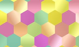 Pattern with multi-colored hexagons Simple geometric background. Mosaic style. Vector illustration Stock Photo