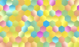 Pattern with multi-colored hexagons Simple geometric background. Mosaic style. Vector illustration Stock Photography